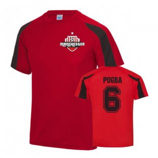 Paul Pogba Manchester United Sports Training Jersey (Red)