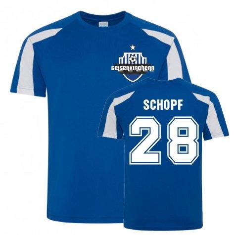 Alessandro Schopf Schalke Sports Training Jersey (Blue)