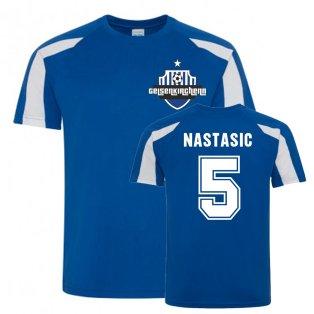 Matija Nastasic Schalke Sports Training Jersey (Blue)