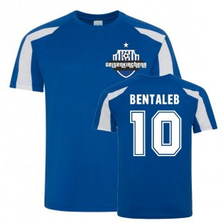 Nabil Bentaleb Schalke Sports Training Jersey (Blue)