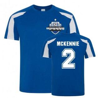Weston McKennie Schalke Sports Training Jersey (Blue)