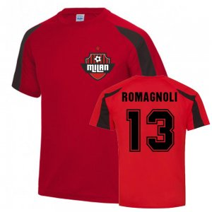 Alessio Romagnoli Milan Sports Training Jersey (Red)