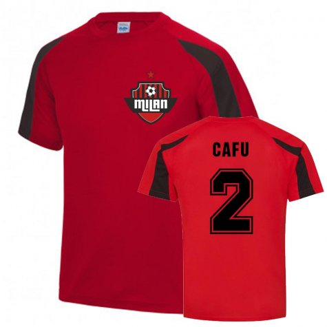 Cafu Milan Sports Training Jersey (Red)