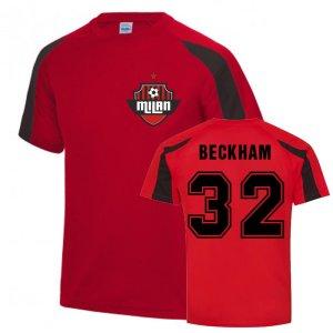 David Beckham Milan Sports Training Jersey (Red)