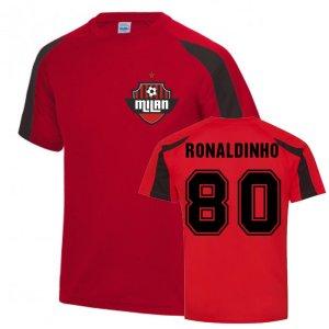 Ronaldinho Milan Sports Training Jersey (Red)