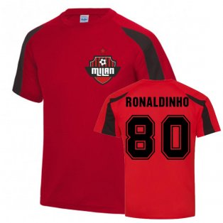 Ronaldinho Milan Sports Training Jersey (Red)