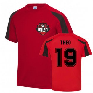 Theo Hernandez Milan Sports Training Jersey (Red)