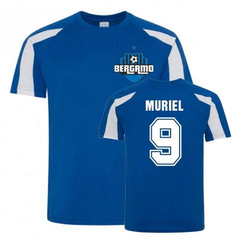 Luis Muriel Atalanta Sports Training Jersey (Blue)
