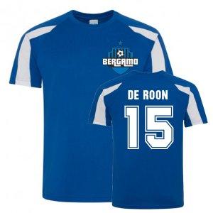 Marten de Roon Atalanta Sports Training Jersey (Blue)