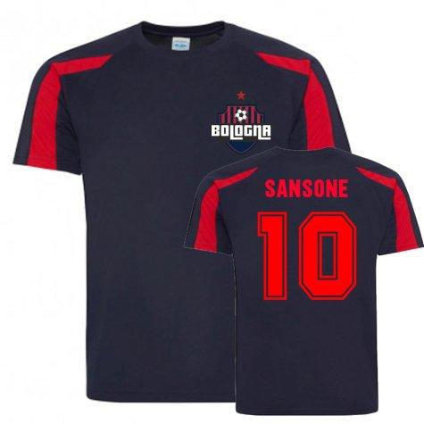 Nicola Sansone Bologna Sports Training Jersey (Navy)