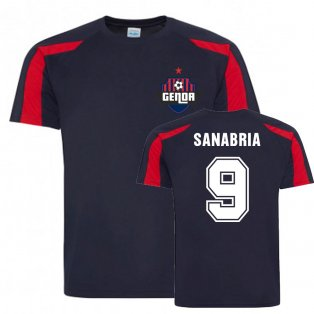 Antonio Sanabria Genoa Sports Training Jersey (Navy)