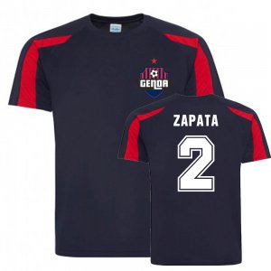 Cristian Zapata Genoa Sports Training Jersey (Navy)