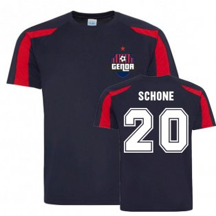 Lasse Schone Genoa Sports Training Jersey (Navy)