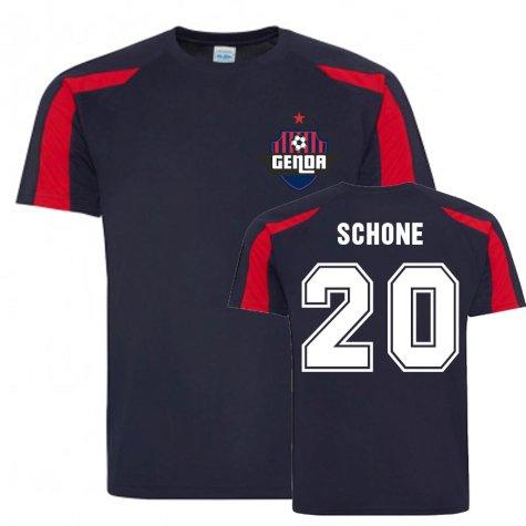 Lasse Schone Genoa Sports Training Jersey (Navy)