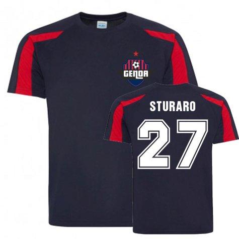Stefano Sturaro Genoa Sports Training Jersey (Navy)