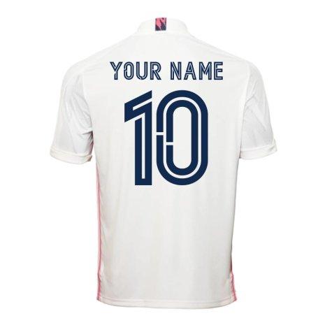 2020-2021 Real Madrid Adidas Home Football Shirt (Your Name)