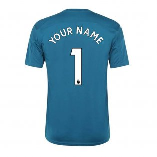 2020-2021 Newcastle Home Goalkeeper Shirt (Deep Lagoon) (Your Name)
