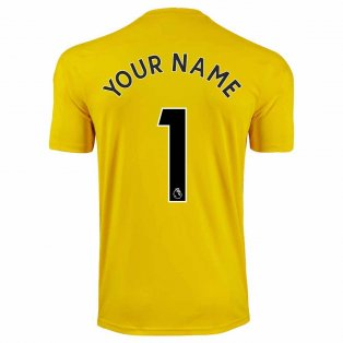 2020-2021 Newcastle Third Goalkeeper Shirt Yellow (Kids) (Your Name)