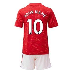 2020-2021 Man Utd Adidas Home Little Boys Mini Kit