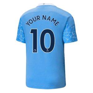 2020-2021 Manchester City Puma Home Football Shirt