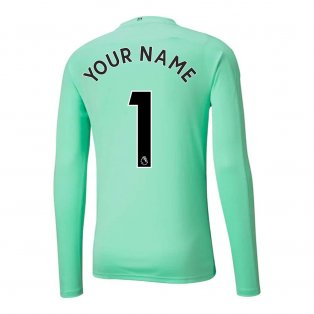 2020-2021 Manchester City Home Goalkeeper Shirt (Green) (Your Name)