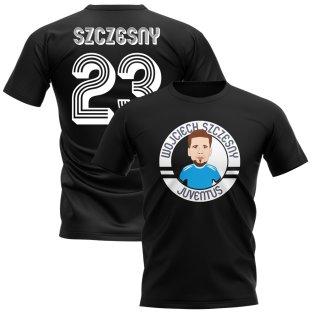 Wojciech Szczesny Juventus Illustration T-Shirt (Black)