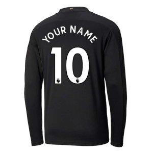 2020-2021 Manchester City Puma Away Long Sleeve Shirt (Kids)