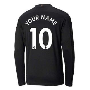 2020-2021 Manchester City Puma Away Long Sleeve Shirt (Kids) (Your Name)