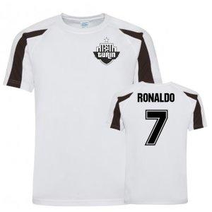 Cristiano Ronaldo Juventus Sports Training Jersey (White)