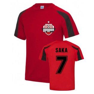 Bukayo Saka Arsenal Sports Training Jersey (Red)