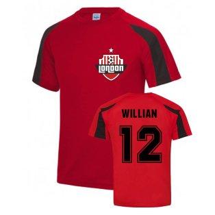 Willian Arsenal Sports Training Jersey (Red)