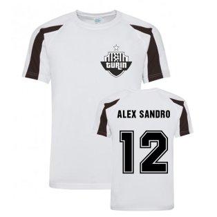 Alex Sandro Juventus Sports Training Jersey (White)