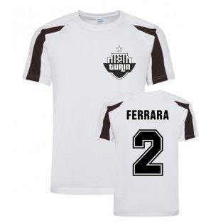 Ciro Ferrara Juventus Sports Training Jersey (White)