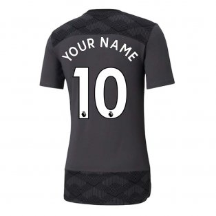 2020-2021 Manchester City Puma Casuals Tee (Asphalt) (Your Name)