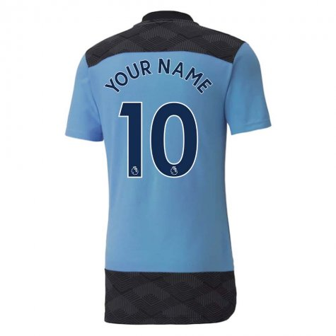 2020-2021 Manchester City Puma Casuals Tee (Light Blue) (Your Name)