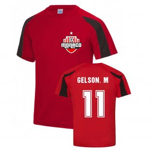 Gelson Martins Monaco Sports Training Jersey (Red)