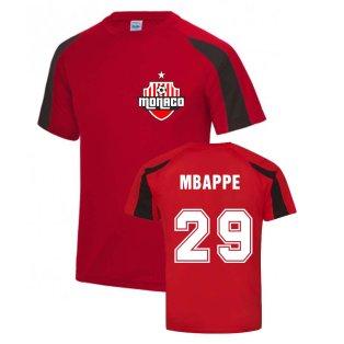 Kylian Mbappé Monaco Sports Training Jersey (Red)