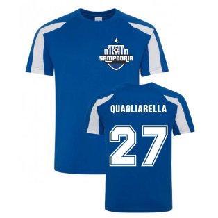 Fabio Quagliarella Sampdoria Sports Training Jersey (Blue)