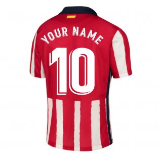 2020-2021 Atletico Madrid Home Nike Football Shirt (Your Name)