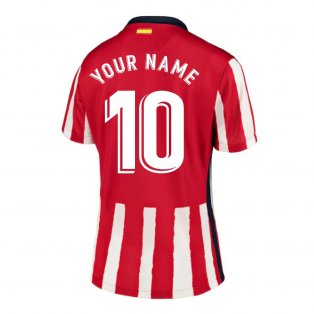 2020-2021 Atletico Madrid Home Nike Shirt (Ladies) (Your Name)