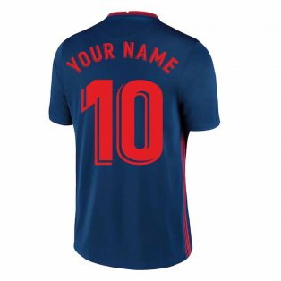 2020-2021 Atletico Madrid Away Nike Football Shirt (Your Name)