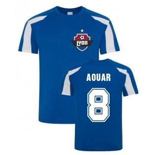 Houssem Aouar Lyon Sports Training Jersey (Blue)