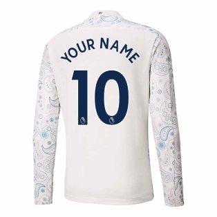 2020-2021 Manchester City Puma Third Long Sleeve Shirt (Kids) (Your Name)