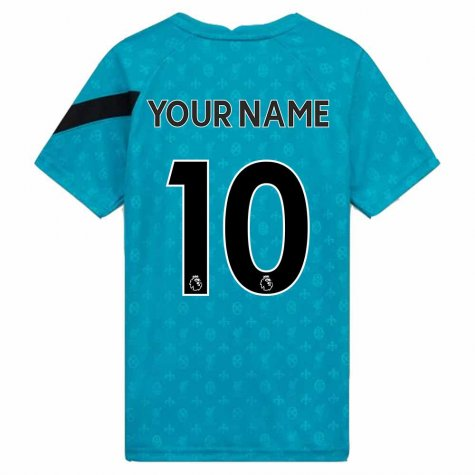 2020-2021 Liverpool Pre-Match Training Shirt (Energy) - Kids (Your Name)