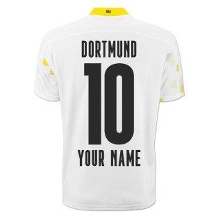 2020-2021 Borussia Dortmund Puma Third Cup Football Shirt (Your Name)