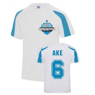 Nathan Ake Manchester City Sports Training Jersey (White)