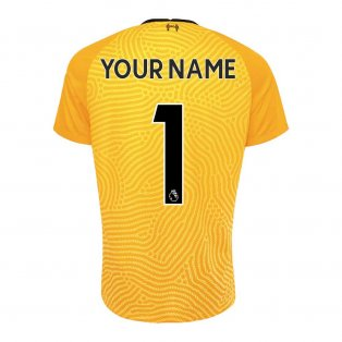2020-2021 Liverpool Goalkeeper Shirt (Yellow) (Your Name)