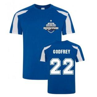 Ben Godfrey Everton Sports Training Jerset (Blue)