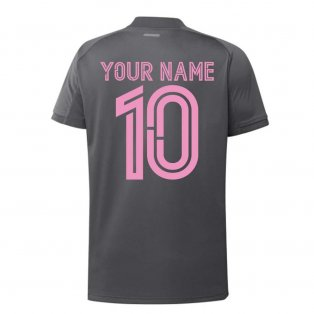 2020-2021 Real Madrid Adidas Training Shirt (Grey) - Kids (Your Name)