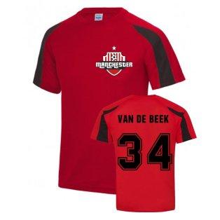Donny Van De Beek Manchester Sports Training Jersey (Red)